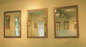 1986 Tre speglar med geometriskt mönster